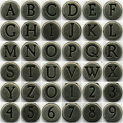 Alphanumeric Set, image by Leo Reynolds CC-BY-NC-SA-2.0